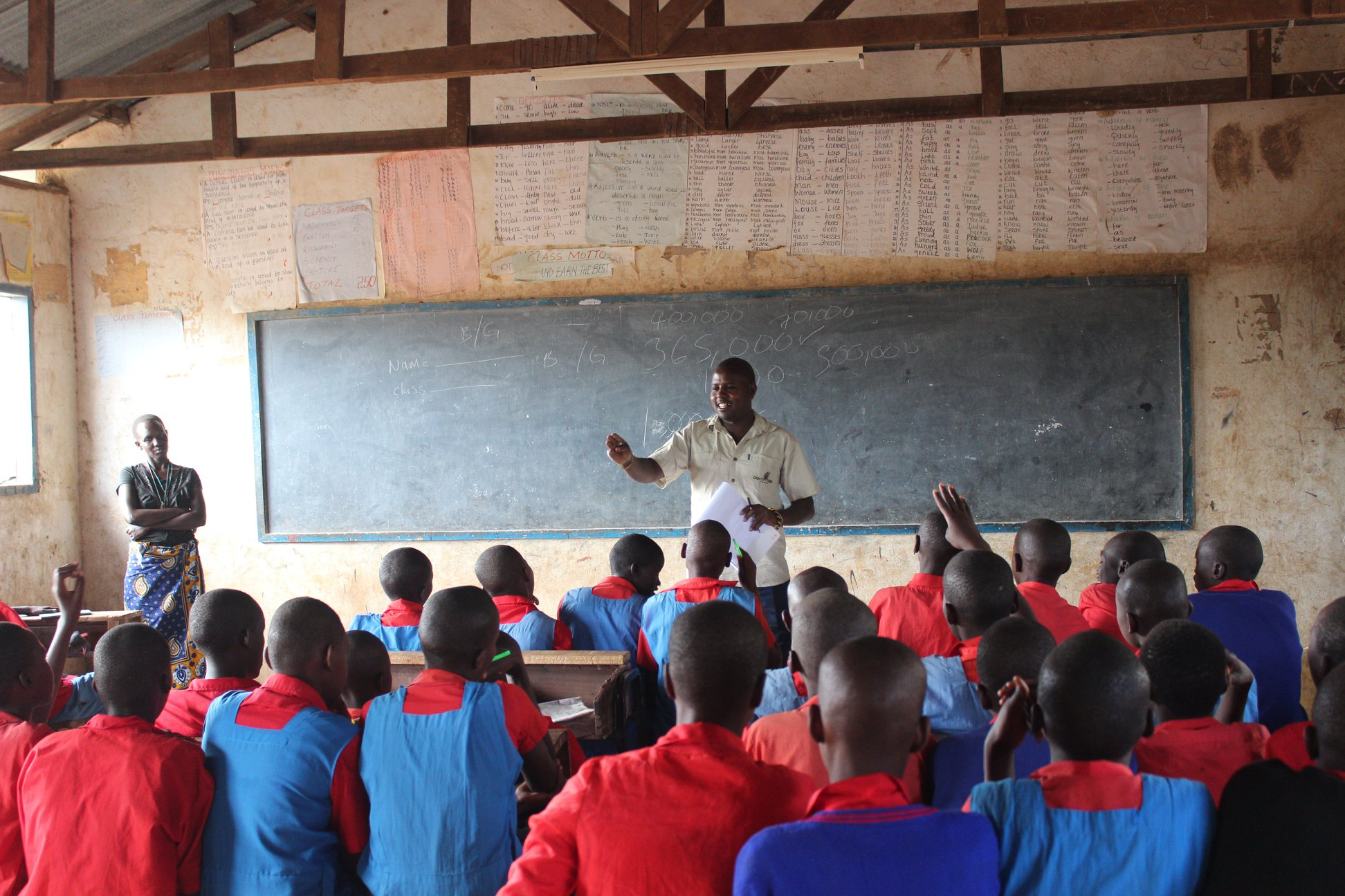 """""""As part of GZT's school outreach program, our Wamba Regional Coordinator, Andrew Letura was accompanied by Jamarose, one of the Grevy's zebra scouts to Ngaremara Primary School where pupils had an interactive session on how they could contribute towards the conservation of the endangered zebras in their local communities."""" Caption and image courtesy of Grevy's Zebra Trust."""