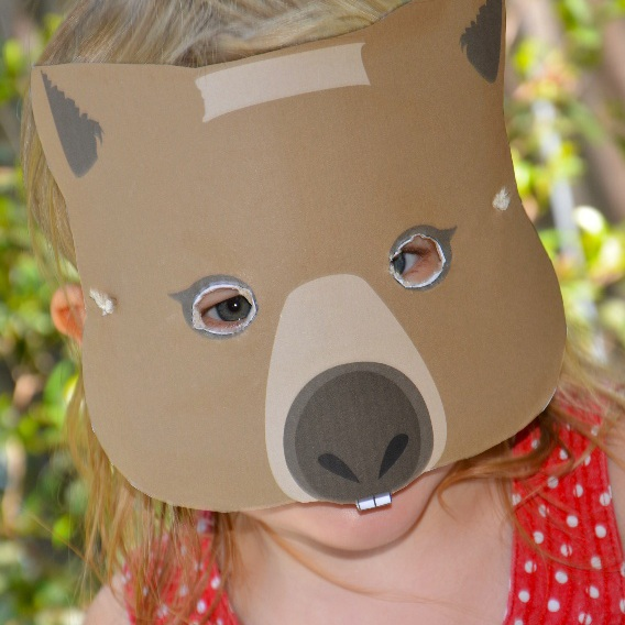Free wombat mask from Mother Natured.