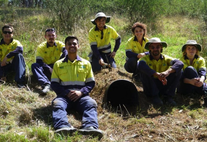 Conservation Volunteers Australia help with rewilding.