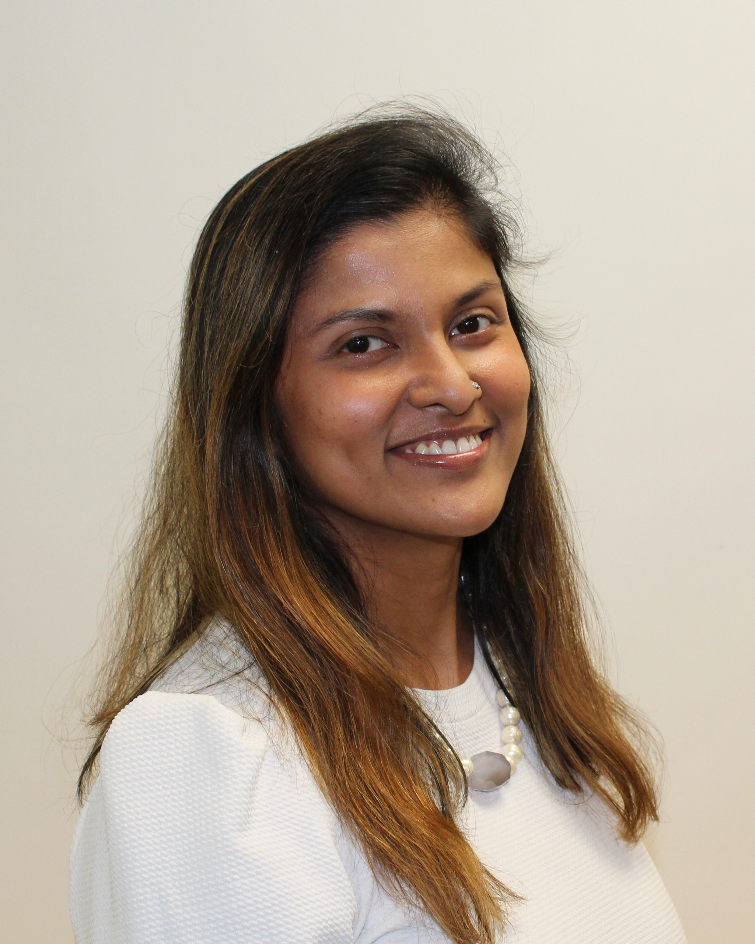 Shalini Noronha, Social Worker   Shalini Noronha joined the Ishar team in February 2018 as the Yoga teacher. Following this, she volunteered with Ishar as a Social Worker and then formally acquired the role in September 2018. Shalini holds a Masters of Social Work and a Bachelor's Degree in Commerce which she completed in India. She also has completed the Yoga Teacher's Training Course from India. Shalini has over 10 years of experience working in the development sector, with a major focus on women and children.  Shalini speaks English, Hindi, Urdu, and Marathi and in her spare time enjoys spending time with her young family, reading, cooking, traveling, and of course, yoga.
