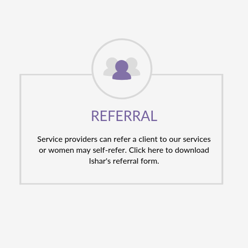 Ishar Multicultural Women's Health Services referral form. Service providers may refer a client to our services or women may self refer.
