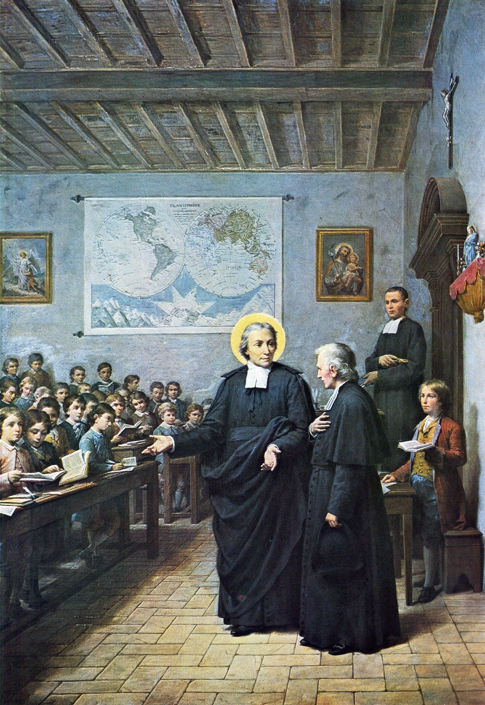 St. John Baptist de La Salle—  Founder of the Institute of the Brothers of the Christian Schools, Patron of Christian Teachers, Father of Modern Education
