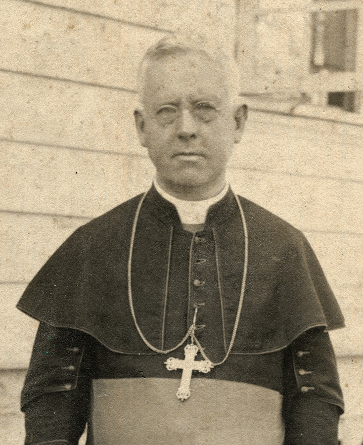 Archbishop Jeremiah James Harty, the first American Archbishop of Manila. He was once a student of the Christian Brothers in St. Louis, Missouri.