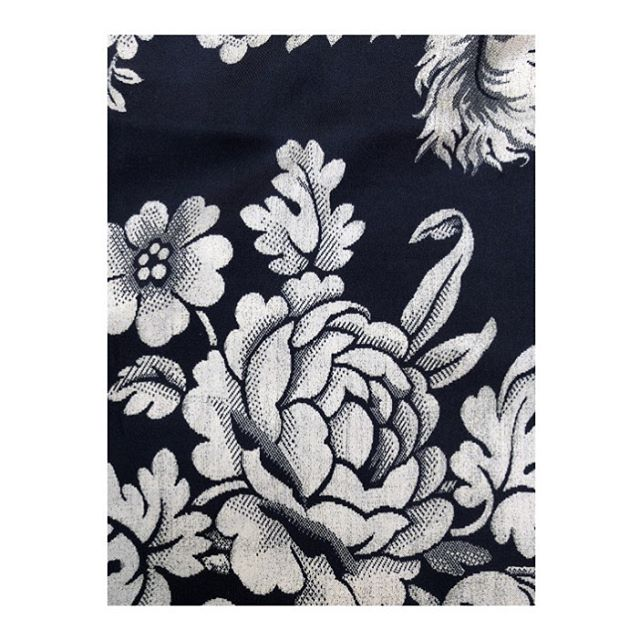 "Detail from one of our new silk scarves! 🖤 Hand frayed edges in a luxurious medium weight silk twill. ""Plume"" in black - 98cm x 98cm 🌟 DM for details and if you fancy silk cushions we can do that too! #scarf #foulard #print #pattern #silk #fashion #decoration #interiors #deco #decor #floral #flowers #graphic #blackandwhite"