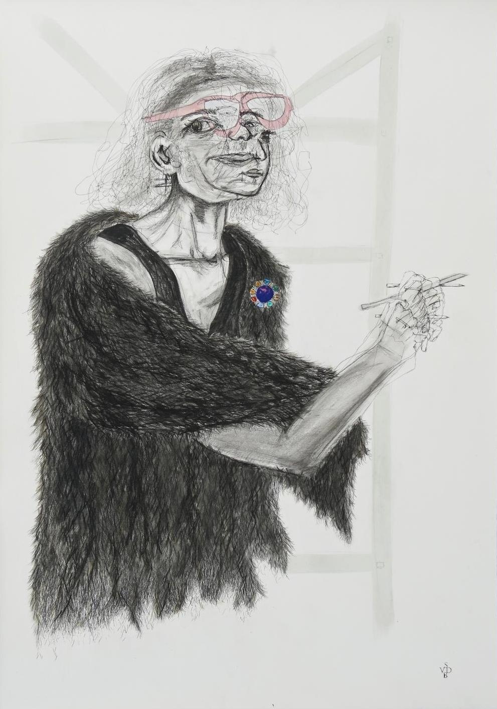 Mother - She Reminds MeSarlee Van Den Berg - Graphite, Ink, Gouache on 300gms Zerkall Paper1000 x 700 mm (Framed)17 500 ZAR