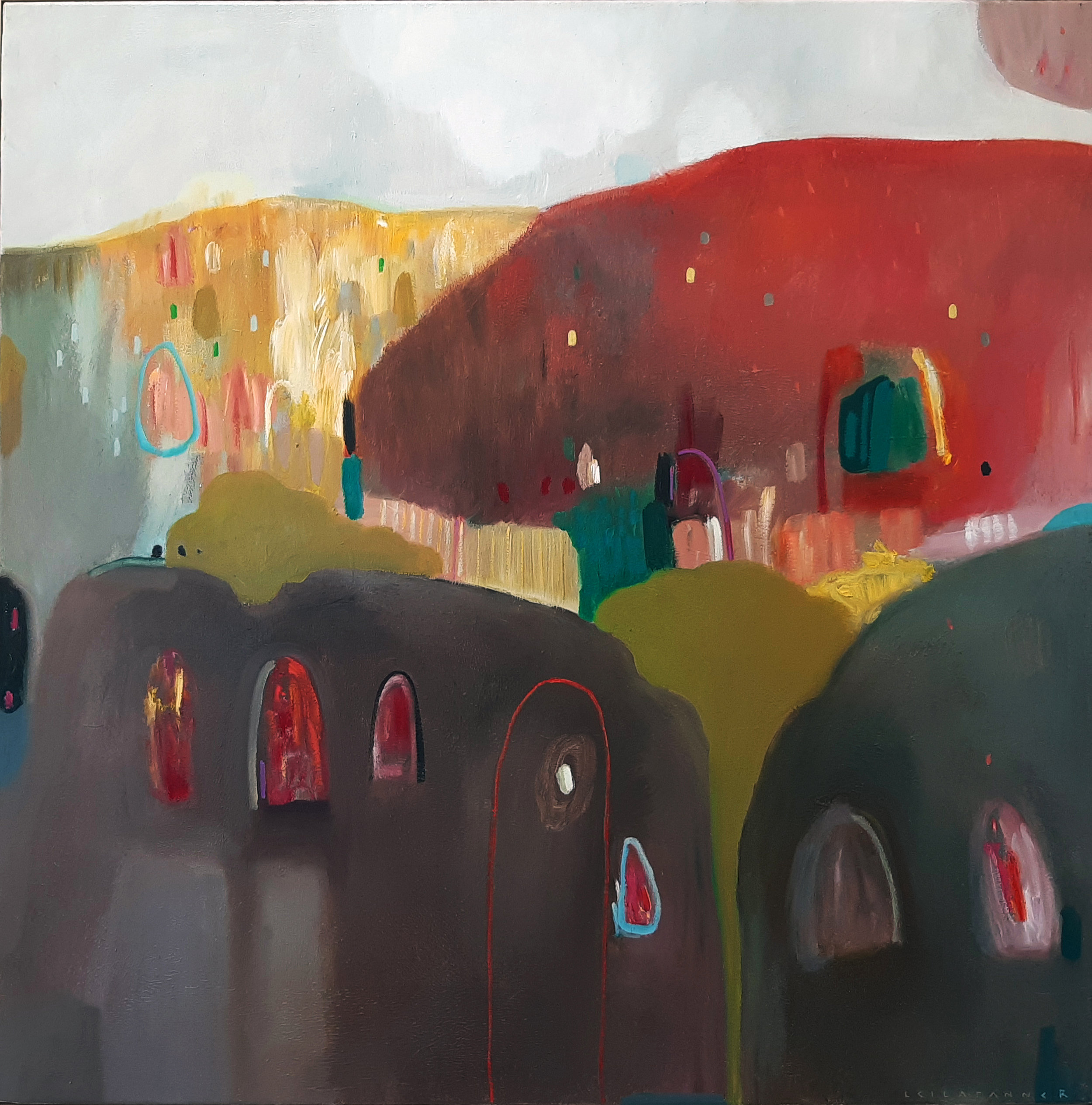 Village II - Oil and Oil Pastel on Canvas1000 x 1000 mmFramed22 000 ZAR