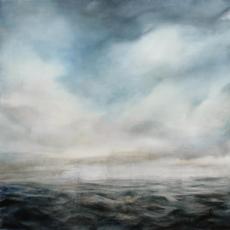 Sea Study 3 - Oil on Silver Leaf on Canvas1500 x 1500 mm25 000 ZAR