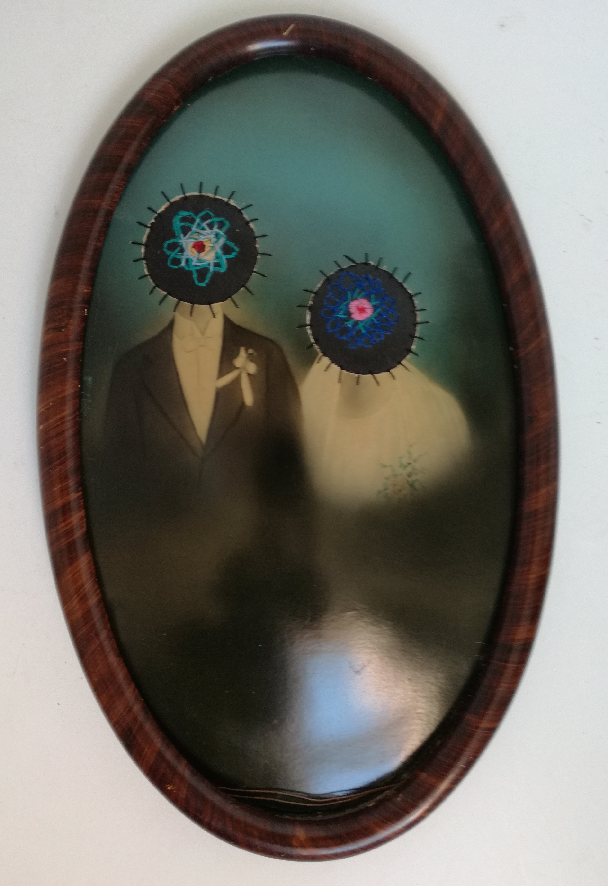 The Atoms Family - Altered Vintage Photograph, Cotton Thread, Rubber530 x 330 mm9800 ZAR