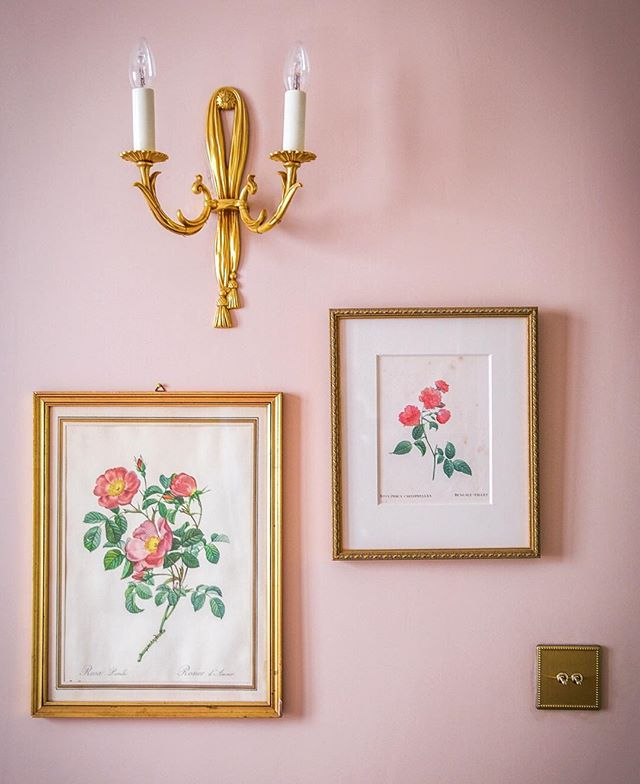Starting a wall of roses in the Rose Room.