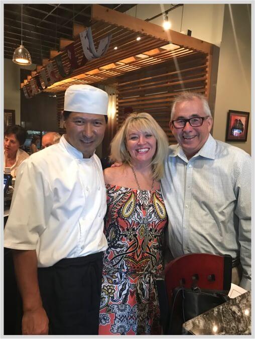 Chef Taka and customers