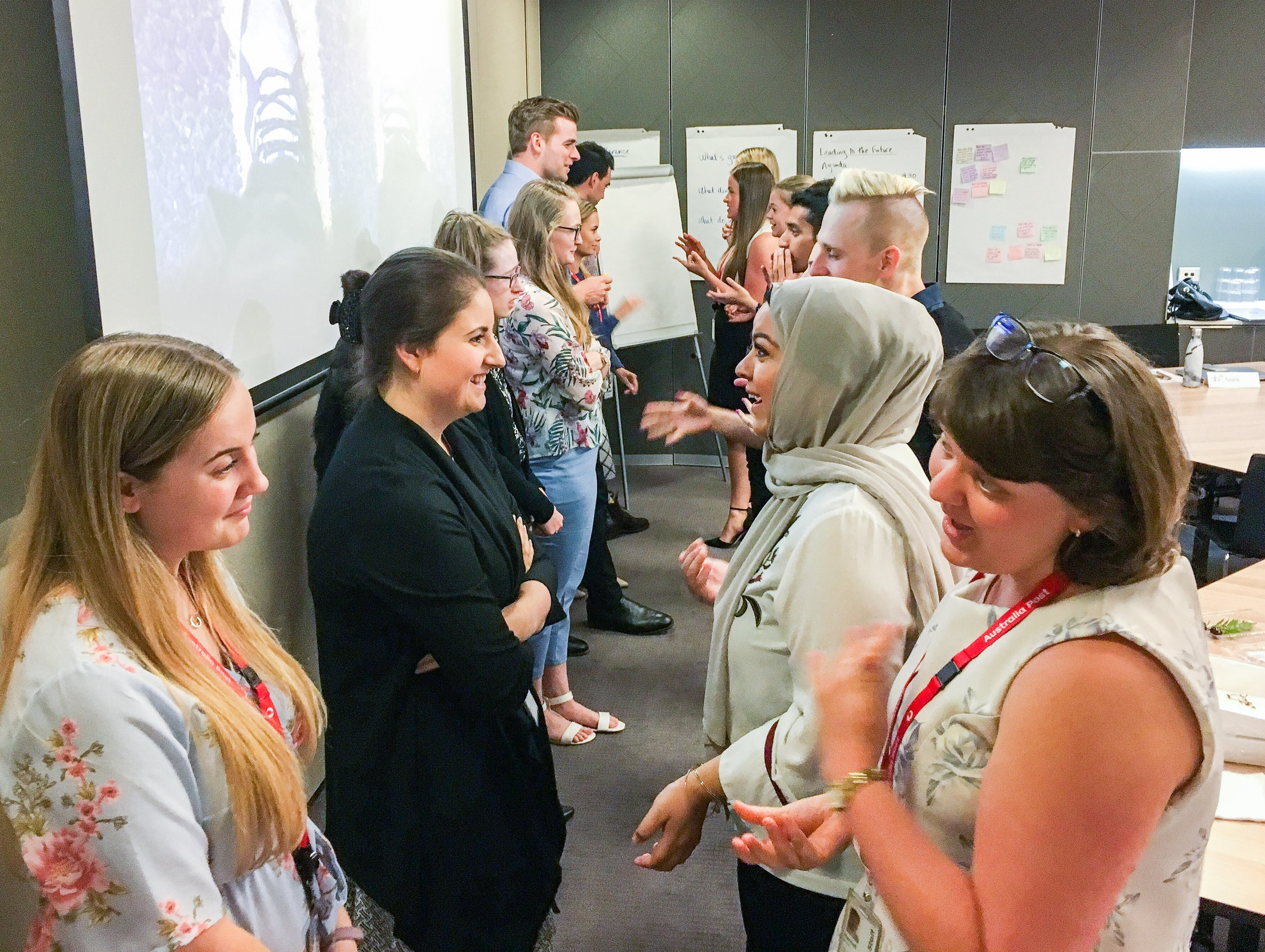 Graduate Edge participants in a Development Beyond Learning session