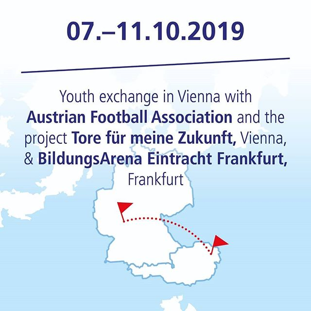 Today our European youth exchange project #kickforeurope starts in Vienna with @frankfurterfanprojekt @oefb.at 🇪🇺 #kickforeurope brings young people together to exchange and learn about democratic values in Europe. We wish the participants a lot of fun and a wonderful week. #kickforeurope #civiceducation #youthexchange #workshops #tolerance #respect #fairplay #learningthroughfootball  #football @auswaertigesamt #allianzkulturstiftung @tuistiftung