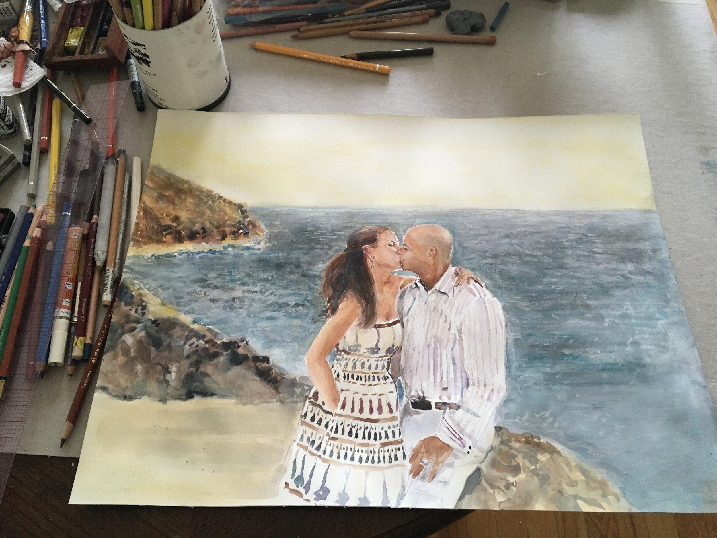 Capri Kiss In Process