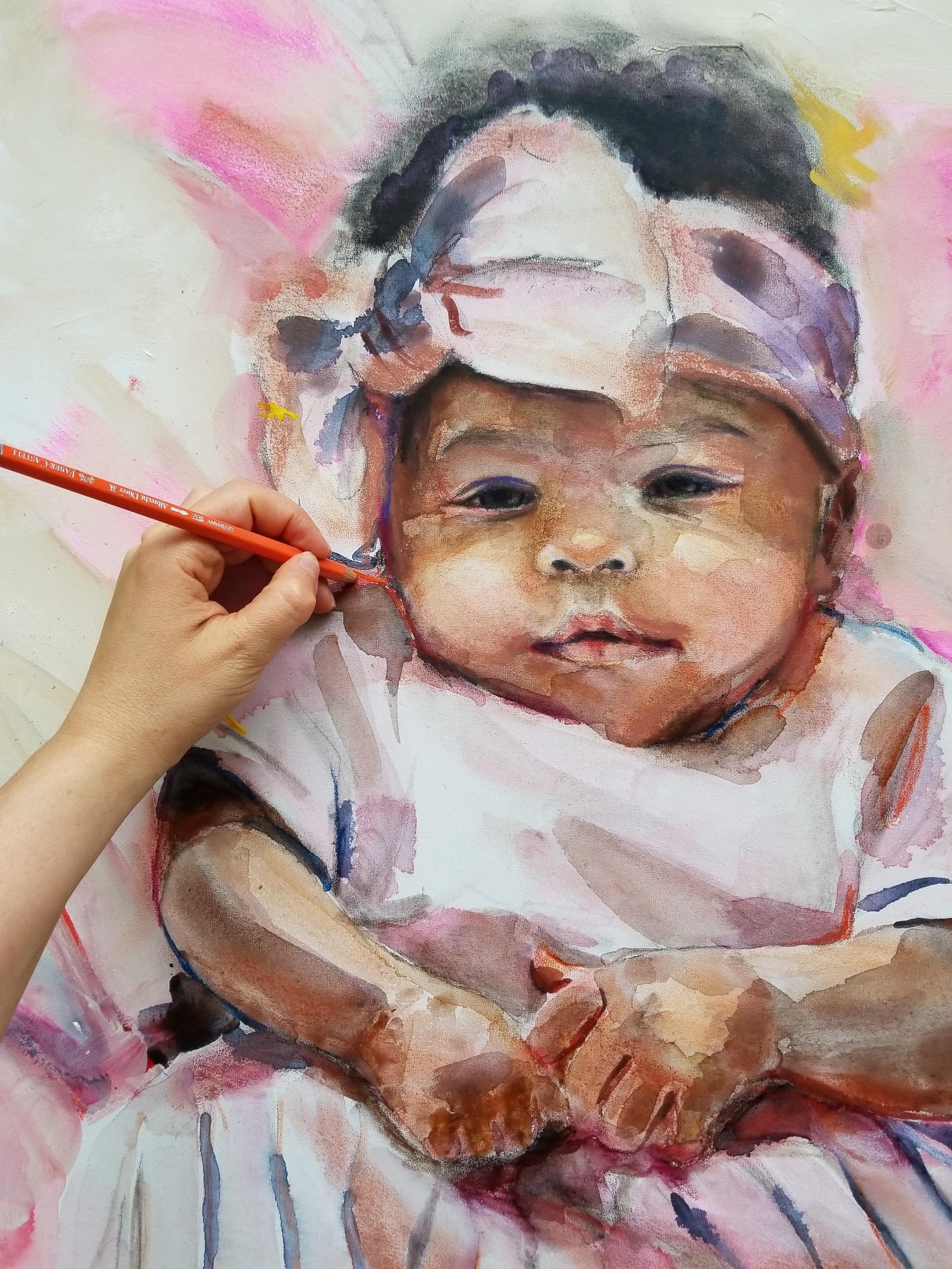 Baby Portrait In Process