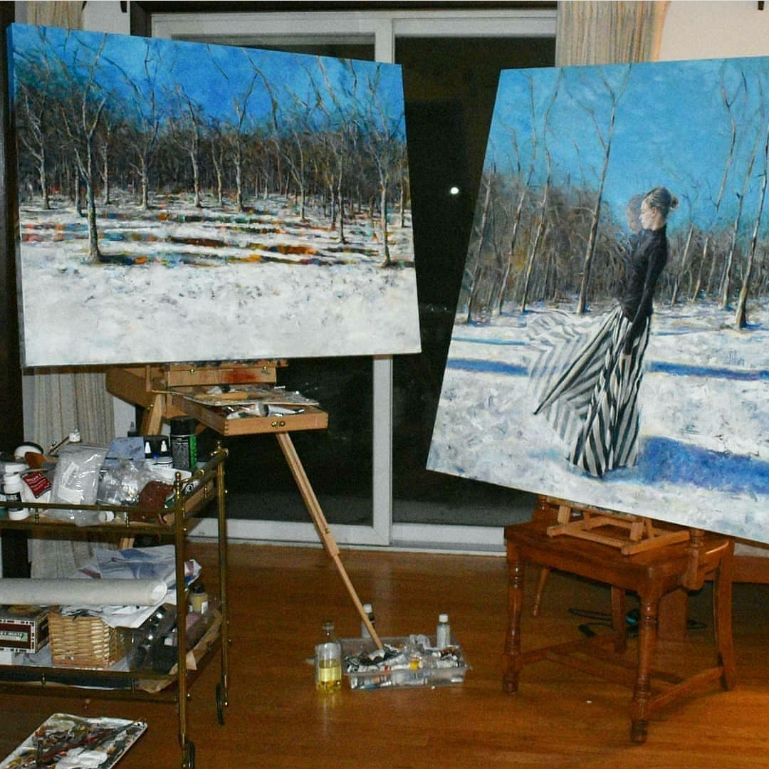 """Landscape commission based on """"January"""" (right)"""