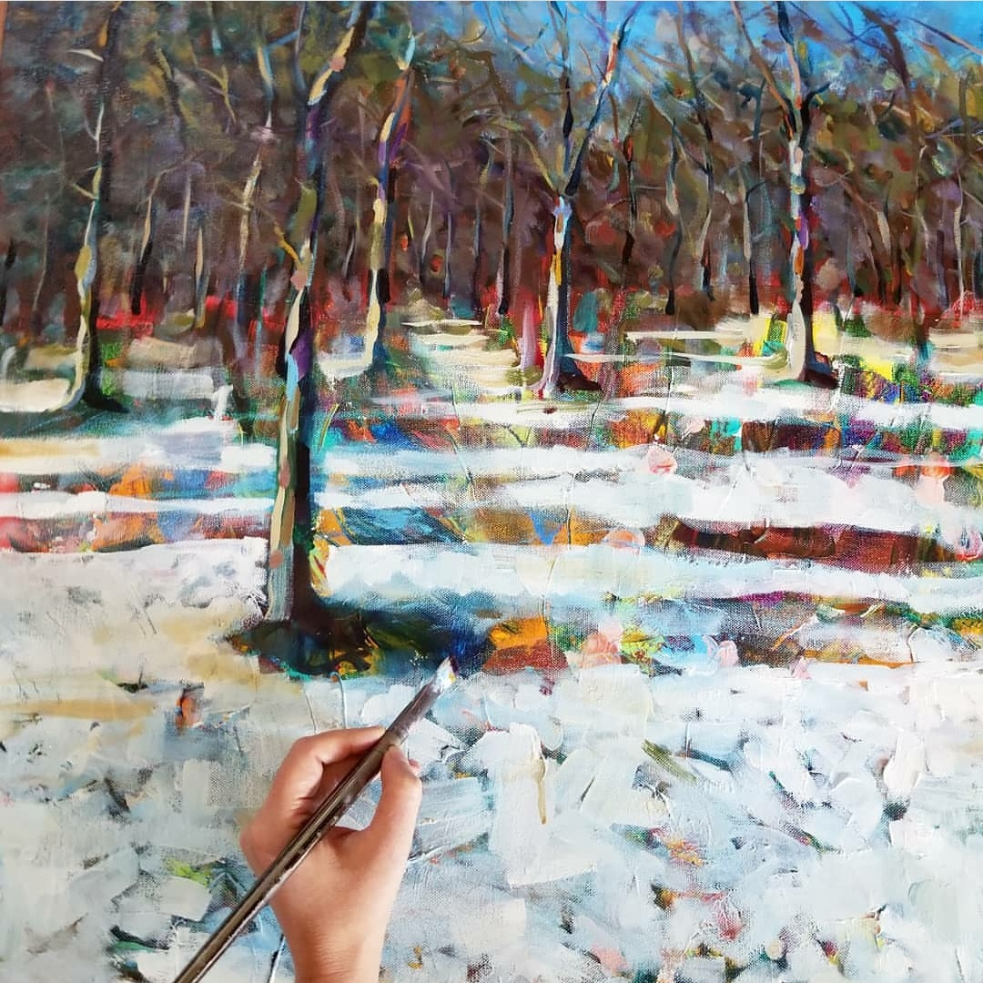 """Commission of """"January"""" as landscape"""