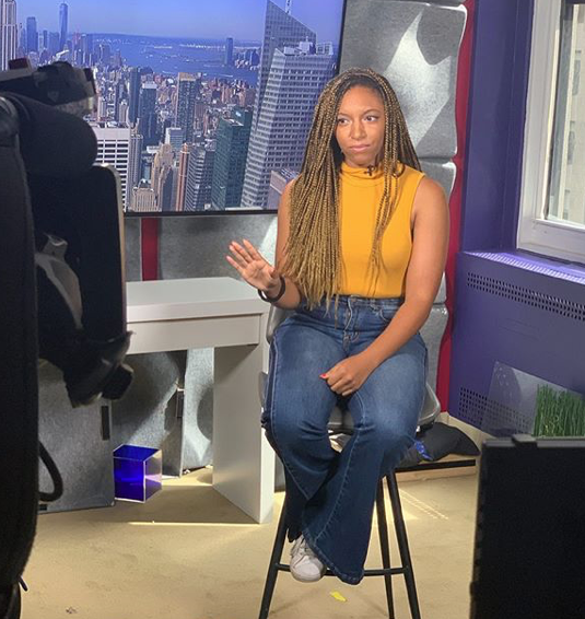 J'na as a guest commentator for Access Hollywood/Access in August 2019.