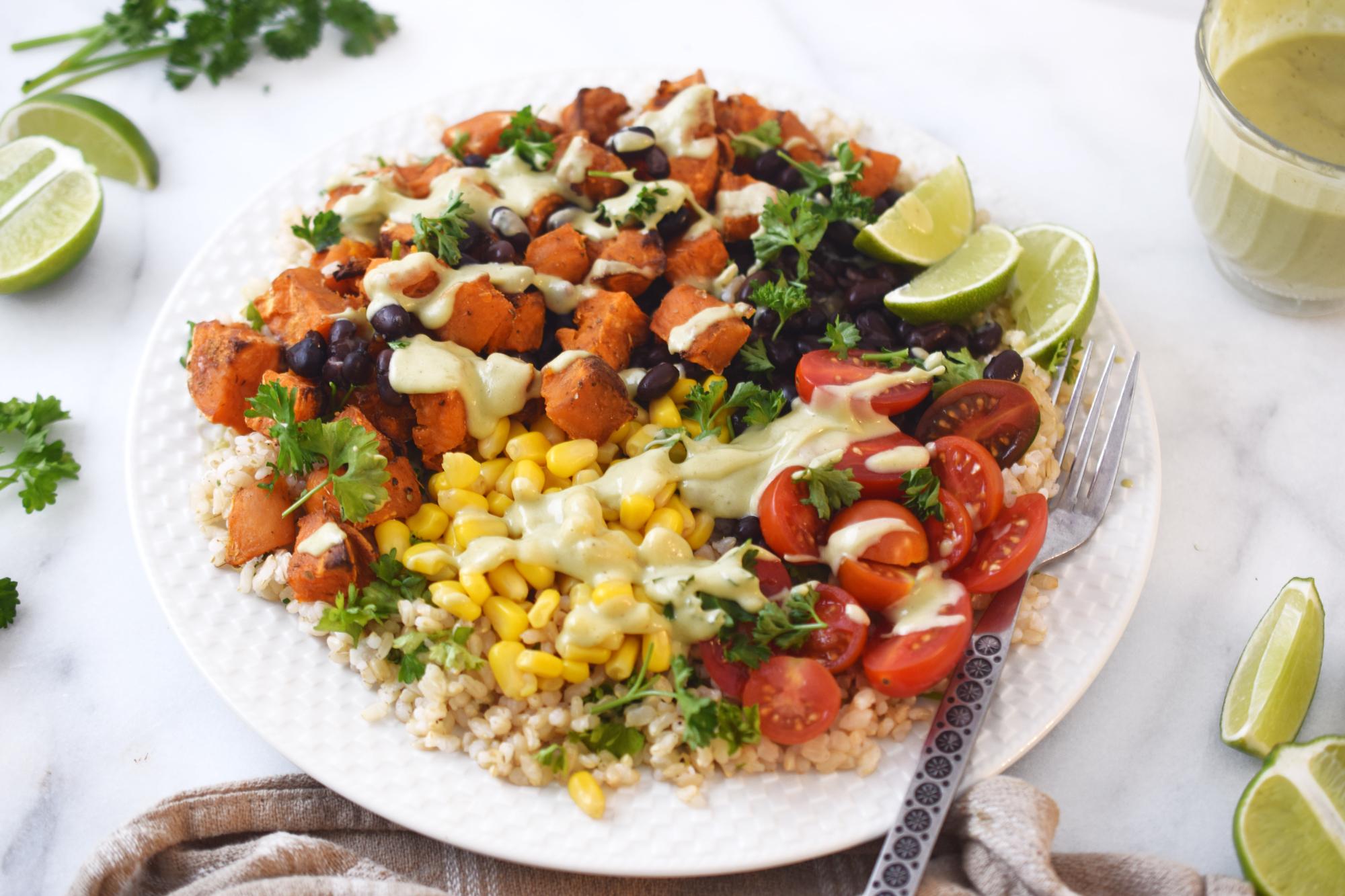 sweet potato taco bowl recipe