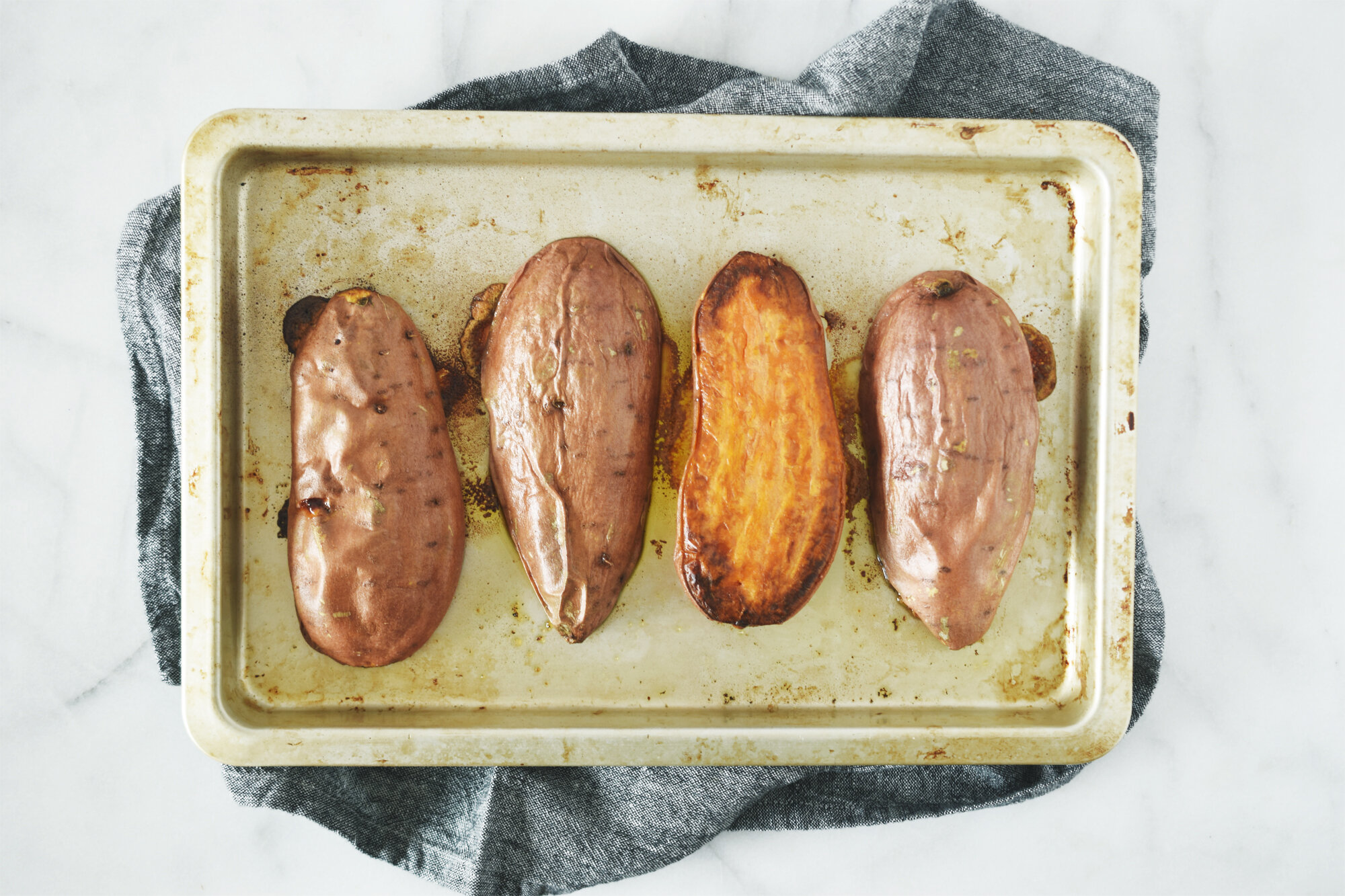 The best and easiest way to bake sweet potatoes