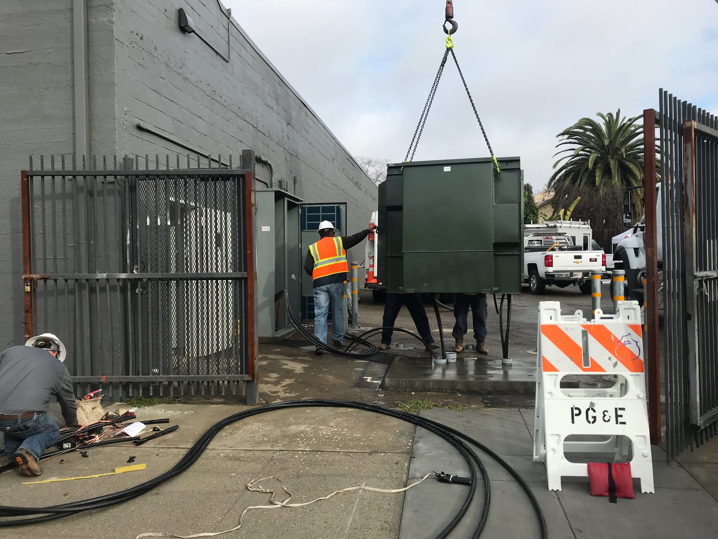 dropping the Big power box PG&E