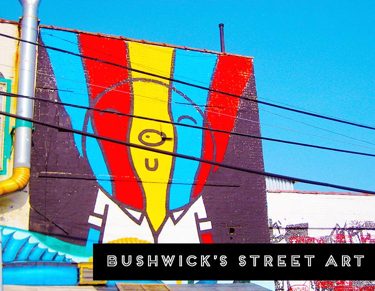 The street art or graffiti around Bushwick, Brooklyn in NYC