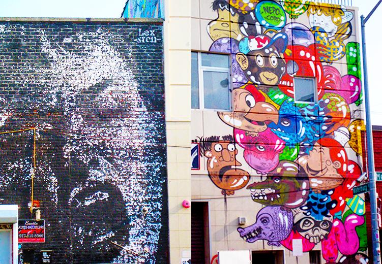 Street art or graffiti from the streets of Bushwick, Brookln in New York City