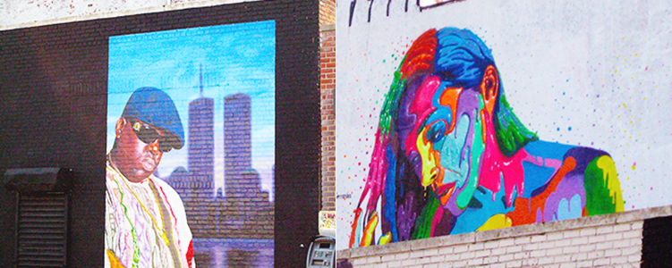 The street art or graffiti around Bushwick, Brooklyn, NYC