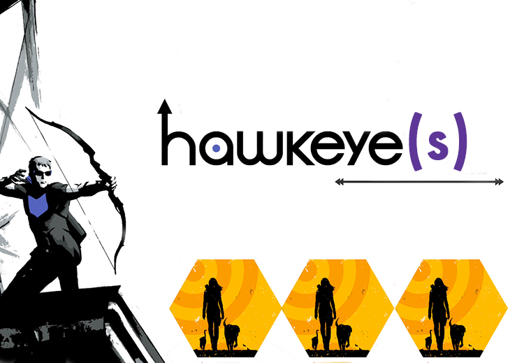 Recommending Matt Fraction's superb run of Marvel's Hawkeye comics. Featuring Clint Barton as lovable mess and Kate Bishop being amazing