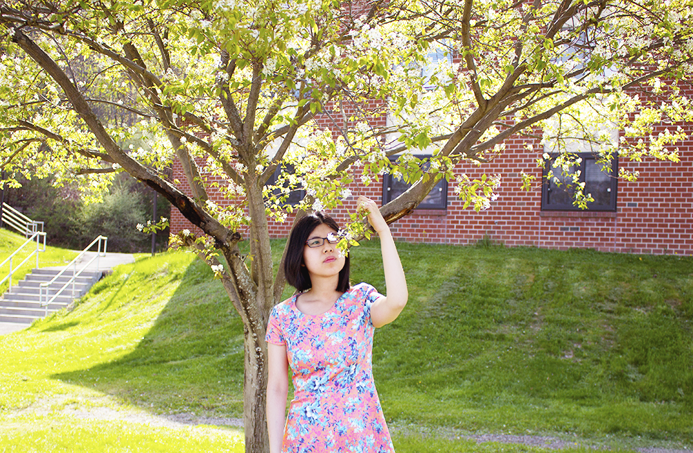 Celebrating the arrival of beautiful spring with a floral dress from PIOL