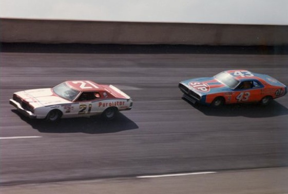 David Pearson and Richard Petty staged epic battles in NASCAR's golden era. (File photo courtesy of the Wood Brothers Racing team)