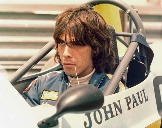 John Paul Jr. in the cockpit of his Formula Ford.
