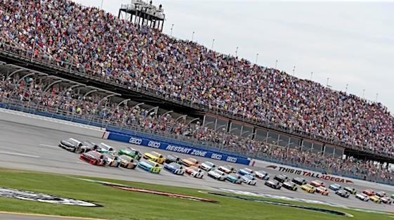 A big crowd showed up to watch stock car racing at Talladega on Sunday. (RacinToday/HHP photo by Alan Marler)