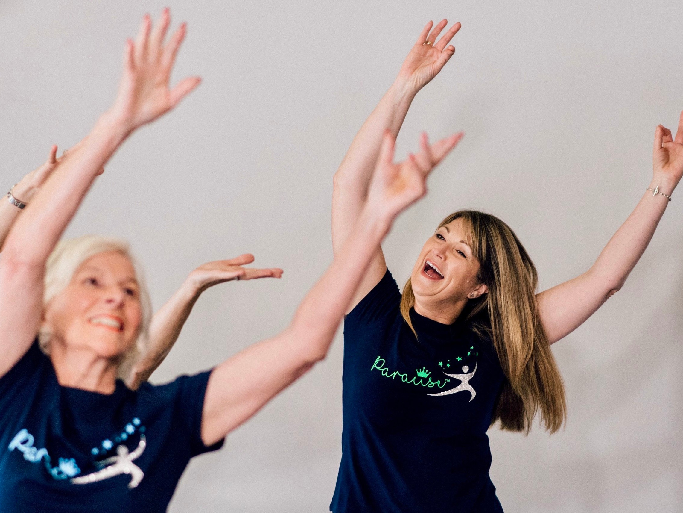 Paracise™ - Get moving, feel great!Paracise™ is gentle, fun and effective group exercise, with NO FLOOR WORK, and great music.