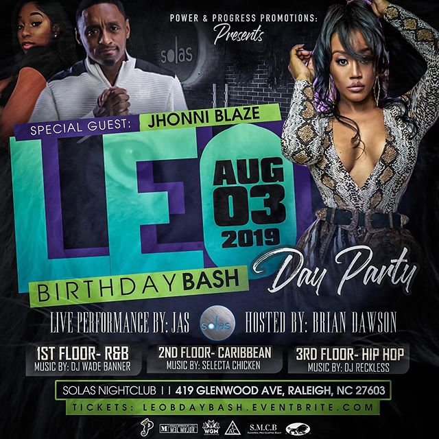 S/o @powernprogresspromo we turning up Solas for the dopest day party in the city at Solas! Aug 3rd, get ur ticket now!