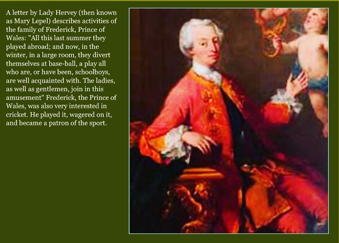 In 1748, Mary Lepel composes a letter describing activities of Frederick, Prince of Wales, and his family.