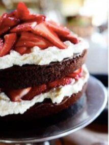 Nutella, chocolate, strawberry cake from  The Pioneer Woman