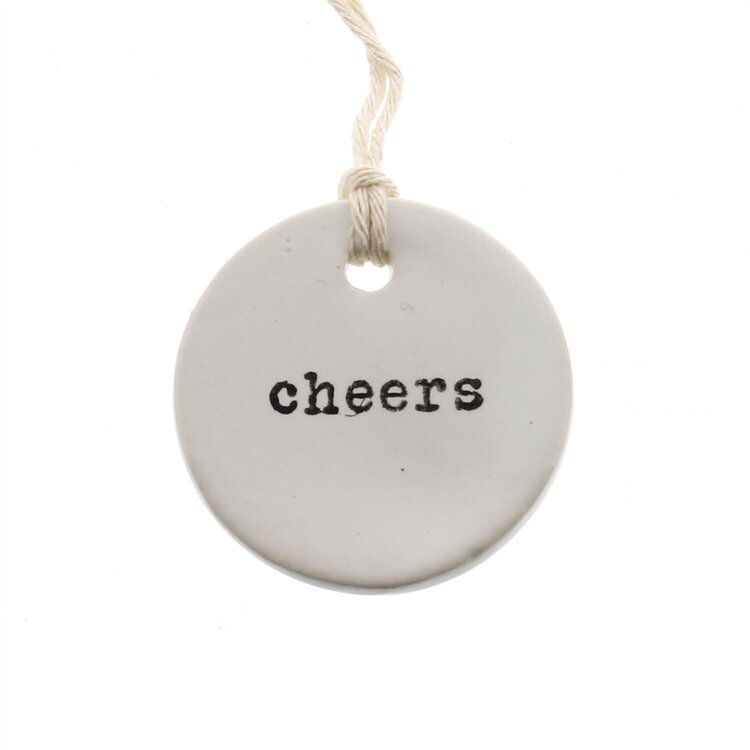 Cheers Ceramic Tag
