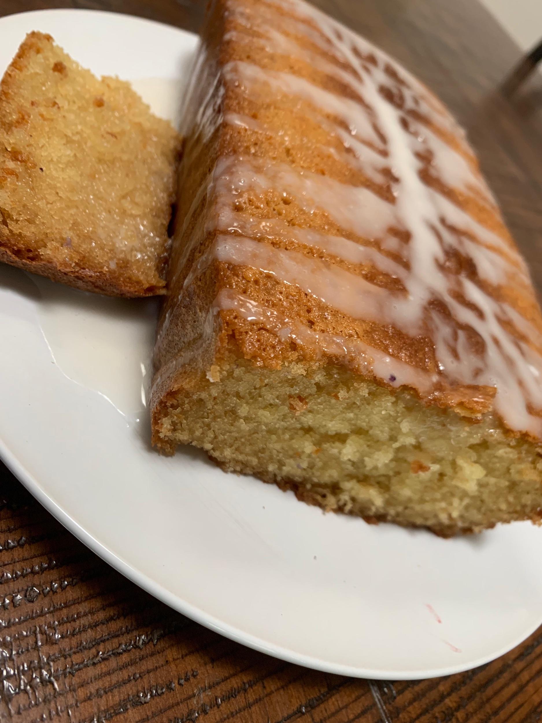 Sour Cream Lemon Loaf - We added a little glaze for extra goodness