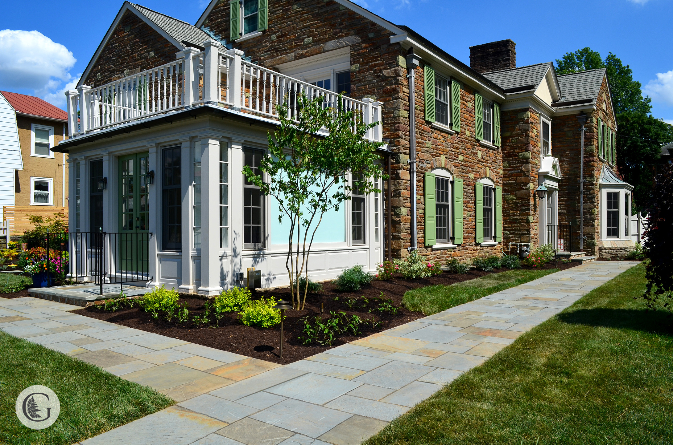 Front Walkway Hardscaping