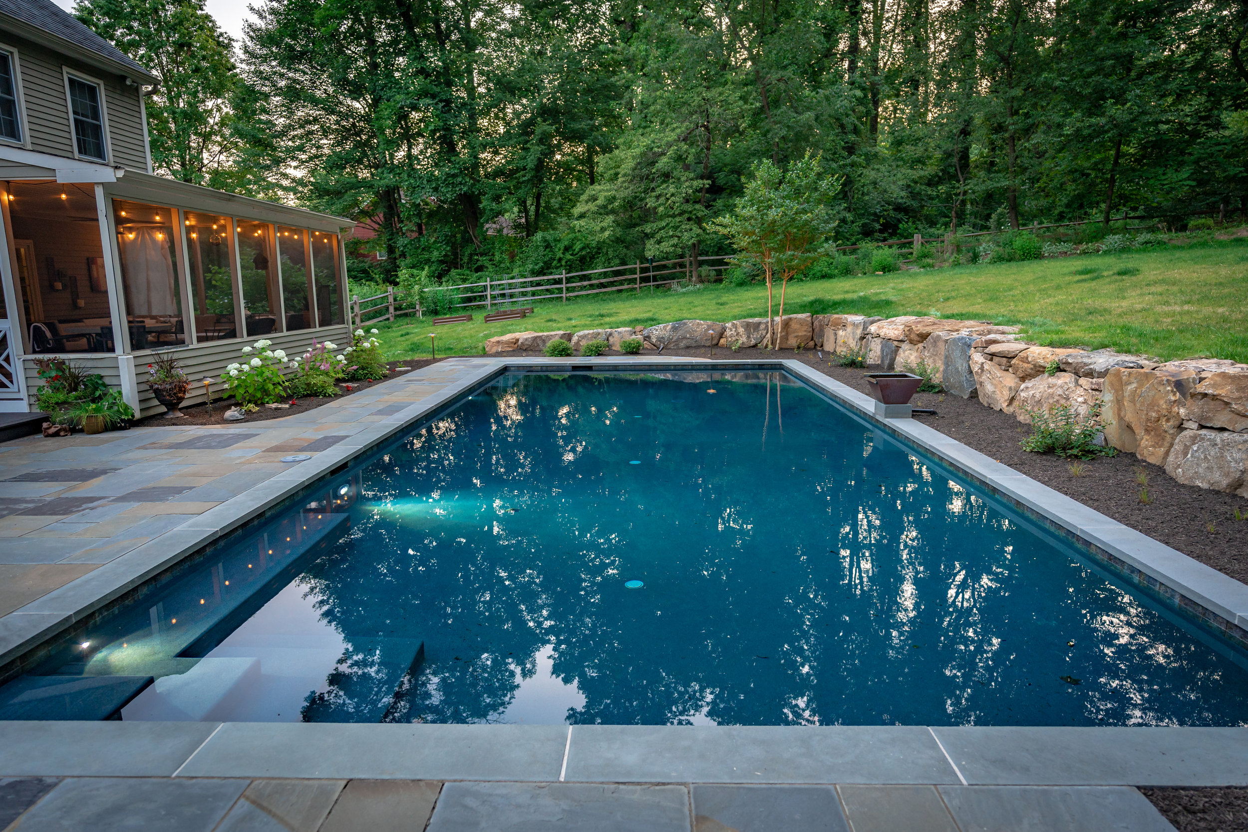 In the summer, there's no better way to relax than with a pool in your own backyard! -