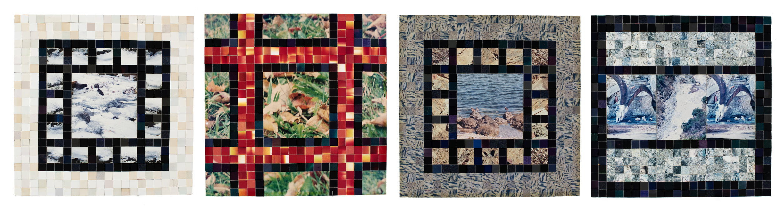 HARRY ERIKSEN   Small Gardens Series  photocollage 13 x 13 inches each