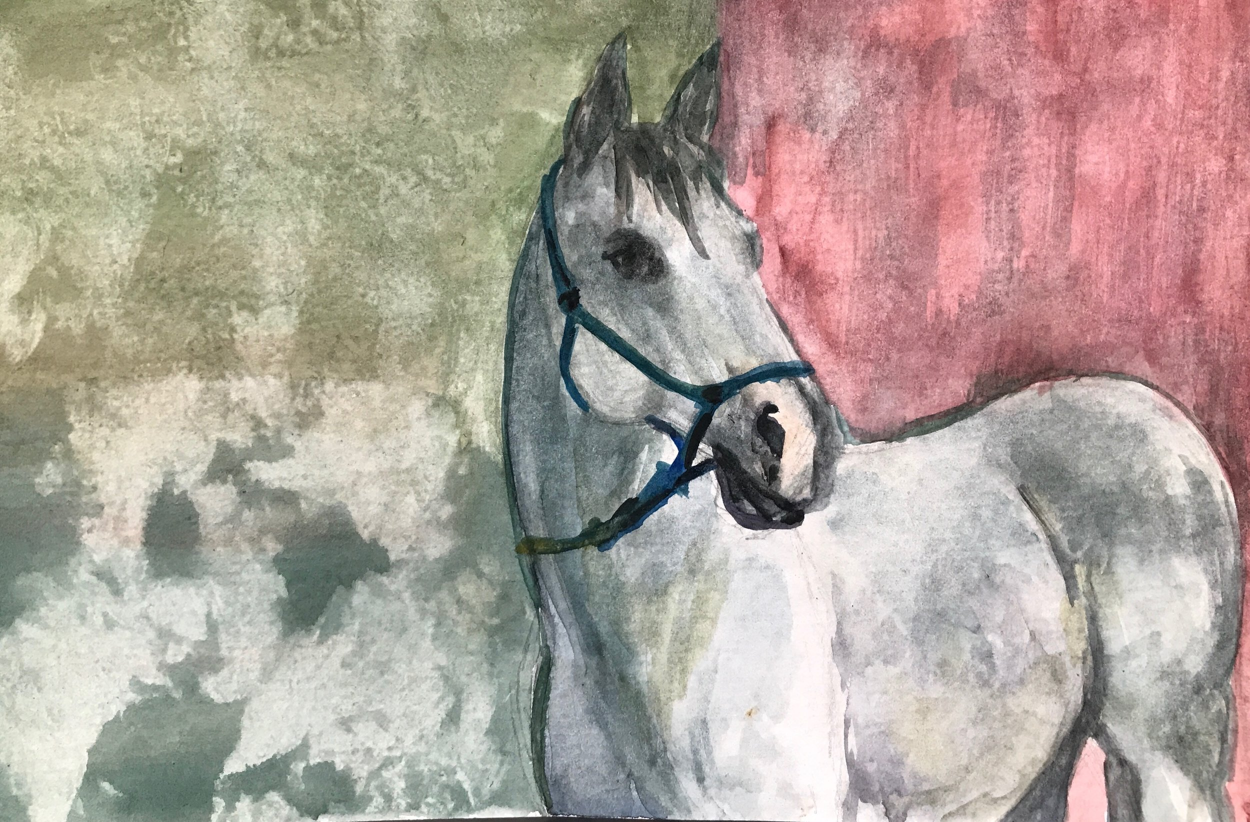 Abstract Grey Mare
