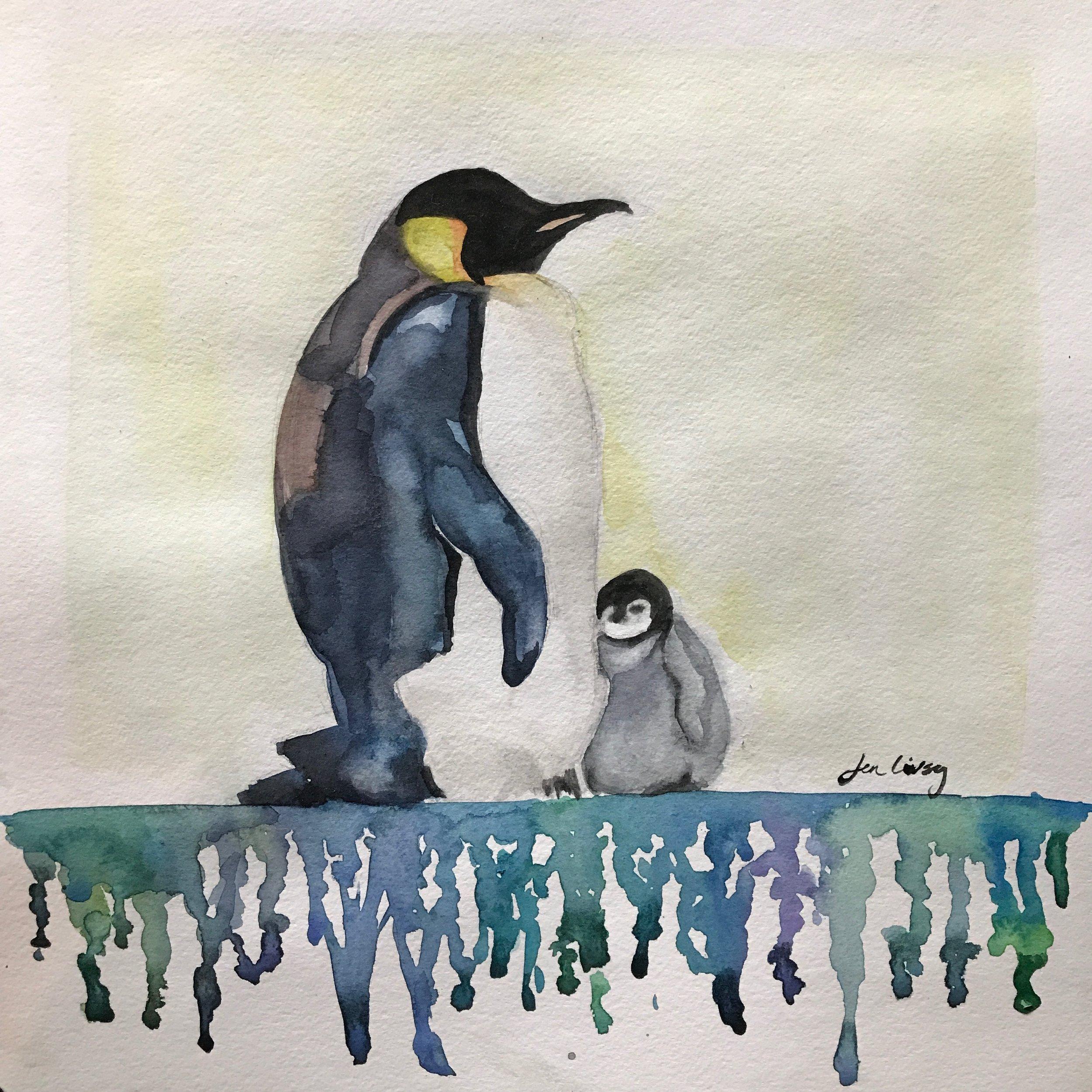 Penguin Color Drip