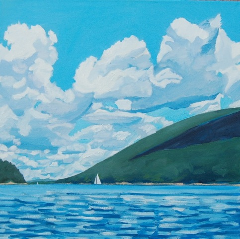 Down the Sound , oil on canvas, 20x20, 2014