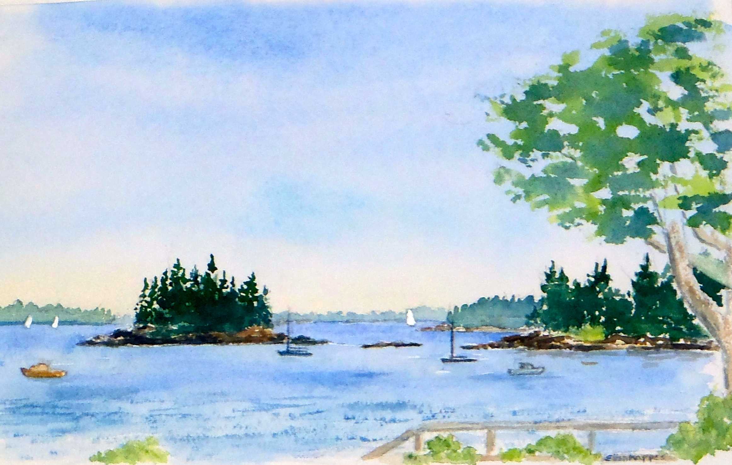 Seal Harbor , watercolor