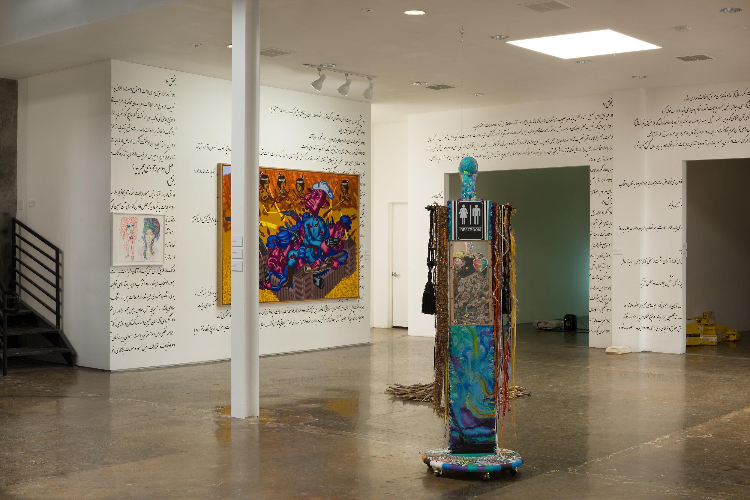 Installation View (Rachel Harrison, Peter Saul, Timothy Washington).jpg