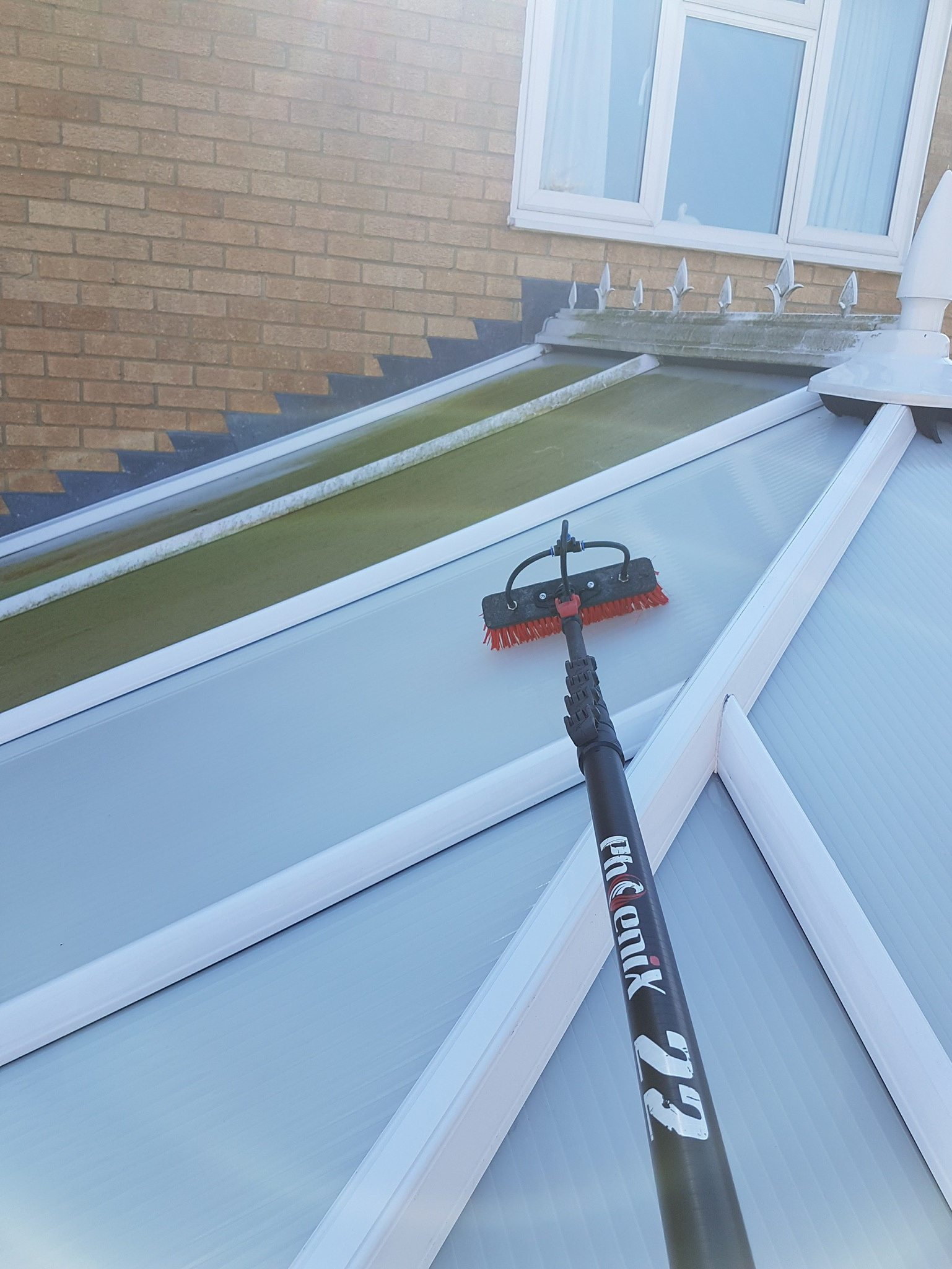 does your conservatory need cleaning? - Conservatories are a great space to add onto a house. Over time however if not cleaned then conservatories can become green with algae, losing the brand new look they once had. At MAC Cleaning we specialise in conservatory roof cleaning in luton.We use specialist chemicals that are kind to the environment but powerful enough to rejuvenate the conservatory, bringing life back to it and light back through. We scrub the solution on and let it set, following with a rinse of pure water to remove all remaining dirt. Its a good idea to clean them as much as you can, but generally as long as they are cleaned every 6 months they will stay looking new. Would you like us to clean your conservatory? Get in touch using the live chat, or by using one of the contact options at the bottom of the page.