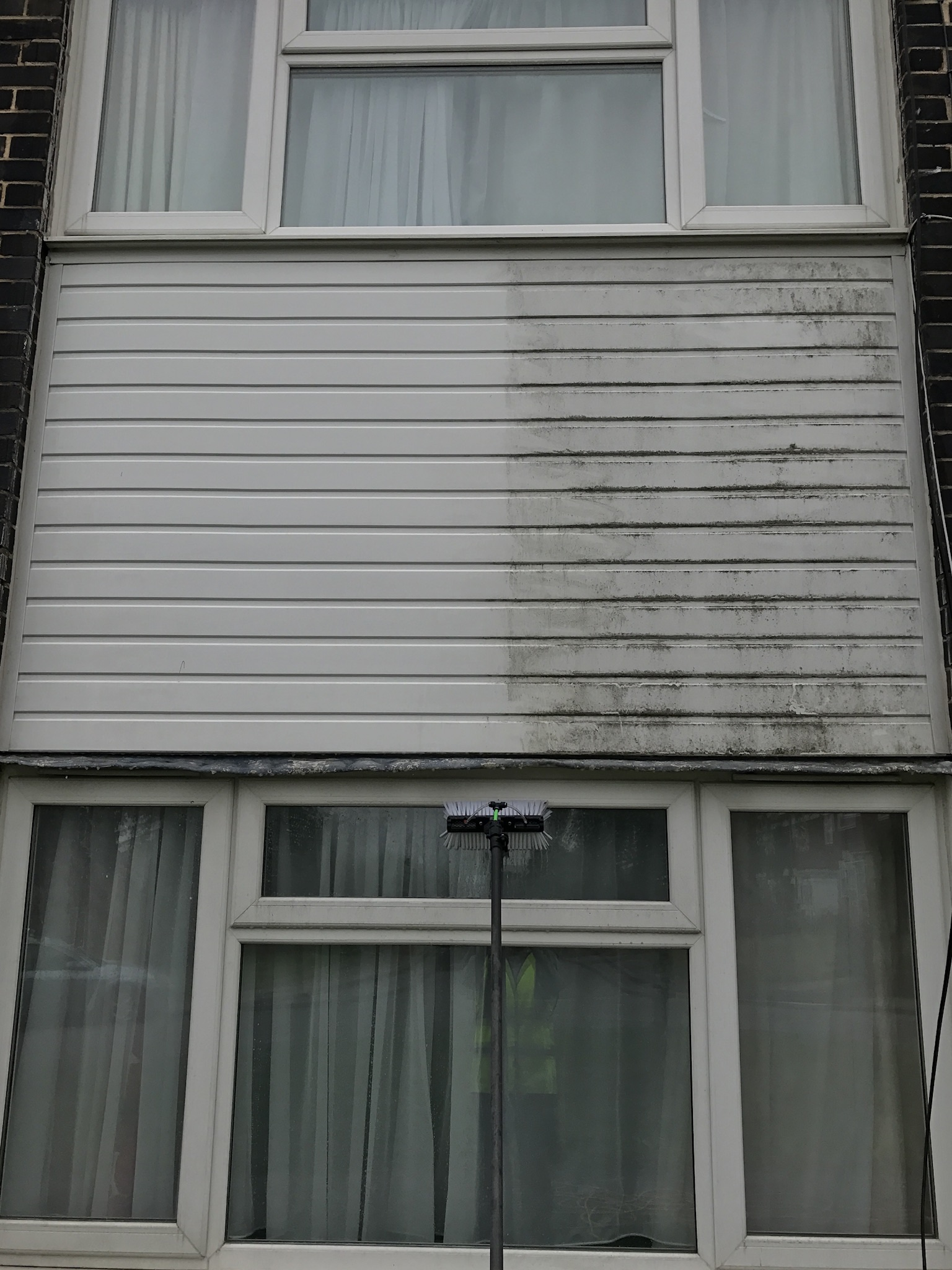fascias, soffits, and gutters - Not everyone has a conservatory, but we all haver fascias and guttering. Similar to the conservatory, over time the gutters can start to look faded and dirty. We are professionals in gutter cleaning in Luton.Using the same solution as we use for the conservatory's, we spray the gutters and fascias with this solution, then get to brushing and rinsing in order to give your gutters that 'as new' look. And thanks to our investment in professional equipment we can do all of this from the safety of the ground. Book us today! You won't be disappointed.