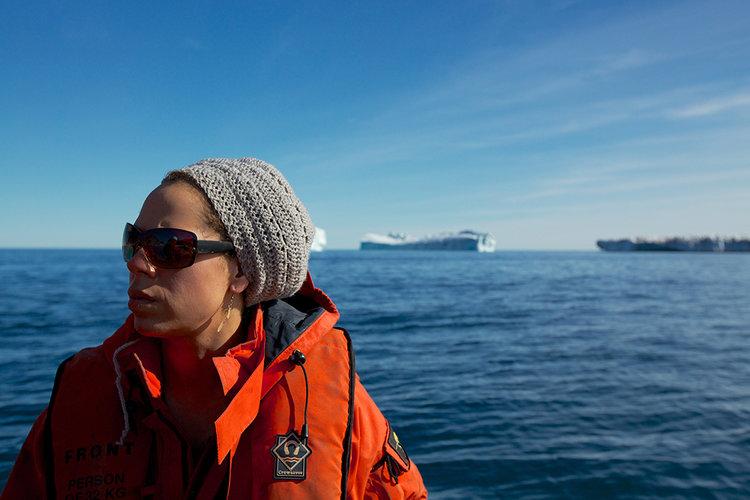 Rachel Fletcher. Photo Taken By Sindre Skrede off the coast of Greenland
