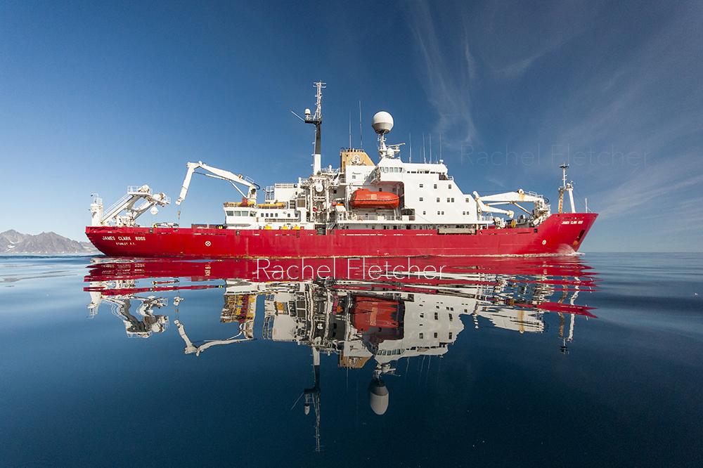 The James Clark Ross. Off the coast of Greenland.